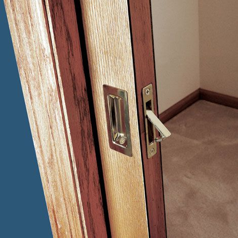 When a swinging door takes up too much space just slip it inside the wall with a pocket door. & How to Install a Pocket Door Easily - Sliding Pocket Door Plans ...
