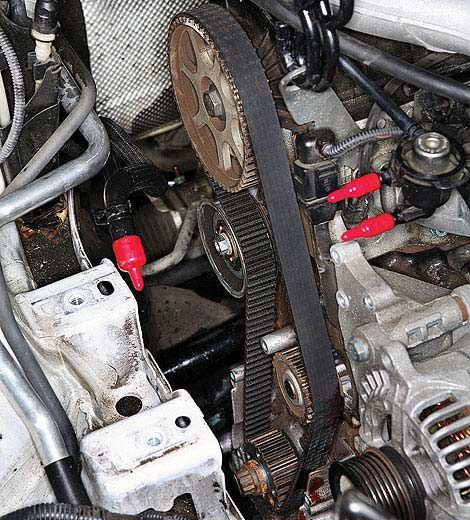 Timing Belt Replacement - Marks on Timing Belt | Twin Cam Engine Diagram 2 4 Timing Chain |  | Popular Mechanics