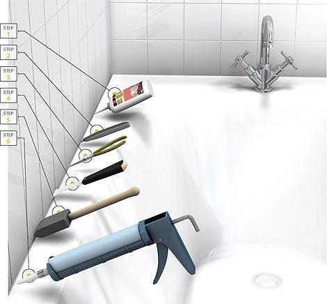 How To Remove Caulk In Easy Steps - Tub caulking easy steps