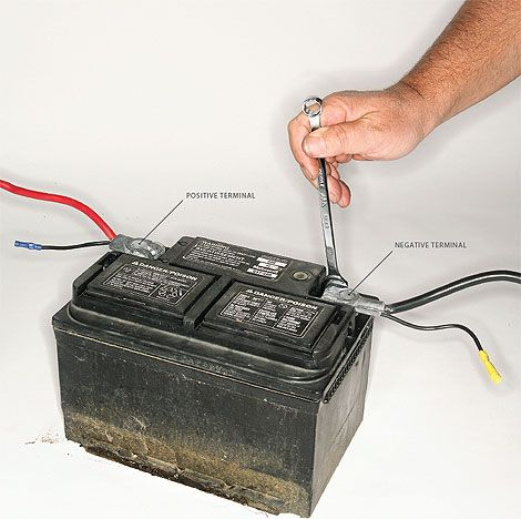 Battery And Negative Terminal How To Disconnect A Battery
