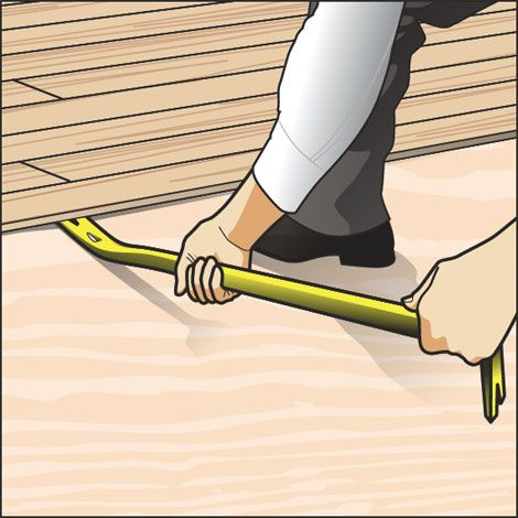 How To Remove Wood Flooring In Easy Steps - Lift off floor removal