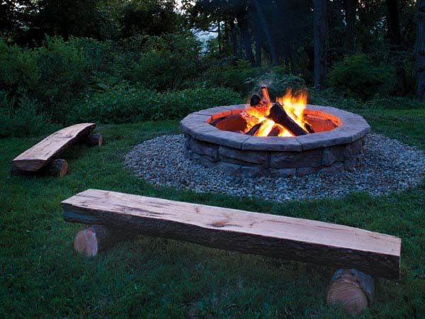 Fire Pit Natural Gas Slate Top