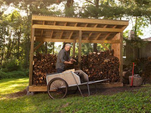 Wood, Flowerpot, Shade, Garden, Spoke, Yard, Cart, Vintage clothing, Lumber, Backyard,
