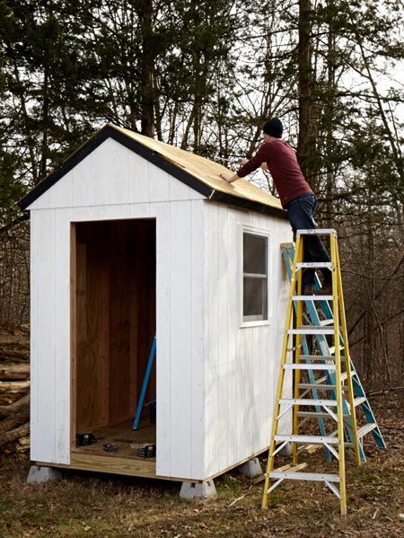 Build your own simple shed for How much to build a shed house