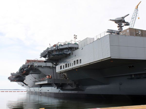Inside the USS Ford, America's Newest Aircraft Carrier on