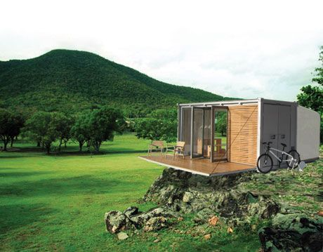 all terrain cabin container home from bark design collective