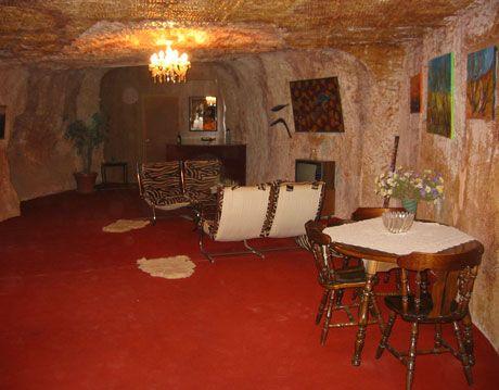 inside a cave home dugout in coober pedy australia