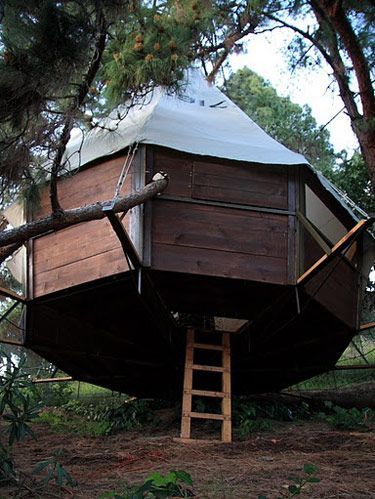 10 best treehouse plans and designs coolest tree houses ever dustin feider the 27 year old founder of o2treehouse is trying to add sustainability and philanthropy to the treehouse making ethic malvernweather Image collections