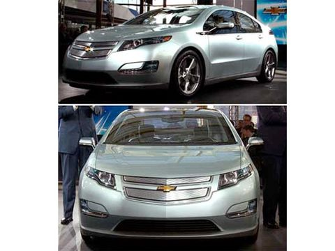 """Despite decades of past innovations and triumphs from General Motors, the guest of honor at today's GM Centennial bash here is a car that won't be in showrooms for at least two years: the <a href=""""http://www.popularmechanics.com/cars/reviews/preview/4283076"""">Chevrolet Volt plug-in hybrid</a>."""