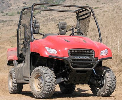 2009 Honda Big Red Test Drive: Tough New Side By Side ATV Packs 1200 Pounds