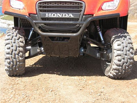 2009 Honda Big Red Test Drive Tough New Side By ATV Packs 1200