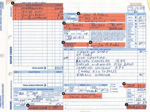 auto work order