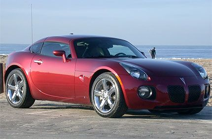 the convertible solstice has sensual lines short body overhangs and a clean profile in turbocharged gxp trim the car has some serious thrust too
