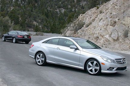 2010 Mercedes Benz E350 And E550 Coupe Test Drive Posh Performer Delivers Cool Safety Tech