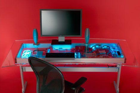 Steps To Mod Overkill The QuadCore KW LiquidCooled Desk - Computer desk mod