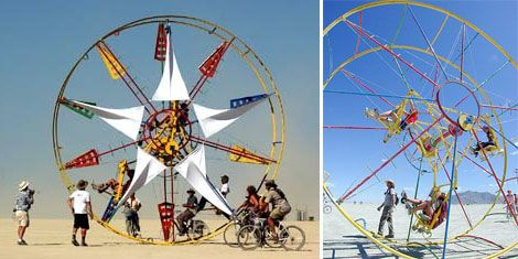Rolling With A Mobile, -Powered Ferris Wheel on homemade pirate ship plans, homemade airplane plans, homemade skee ball plans, homemade swing plans, homemade car plans, homemade water slide plans,