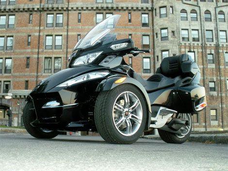 2010 Spyder Three Wheeler Touring Bike Crossover Test Ride