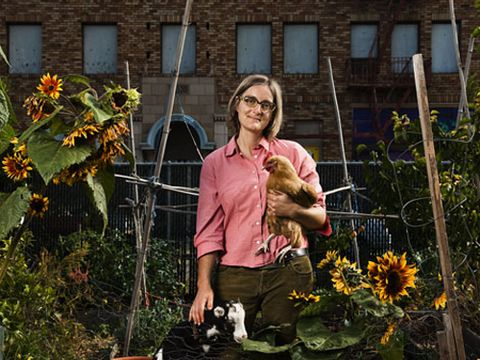 In a 4500-square-foot lot in Oakland, Calif., Novella Carpenter grows broccoli and lettuce right next to fig trees and passion fruit vines.