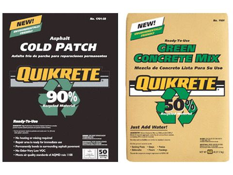 quikrete asphalt and green concrete