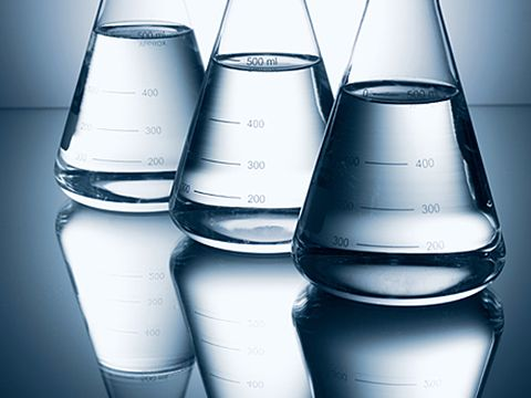 Beakers and Science Transparency