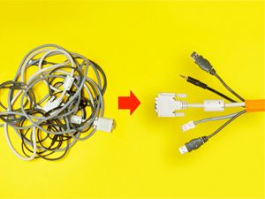 How to Organize and Untangle Cables and Wires Hdmi Cable Wire Diagram With Labels on