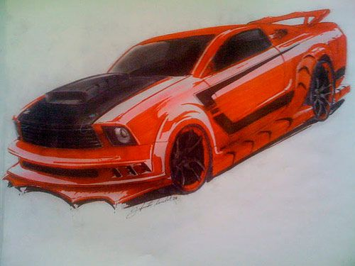 Kick-Ass Mustang Concept Sketch
