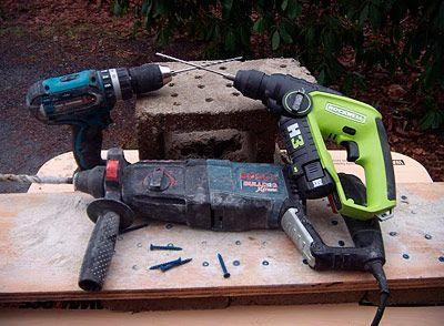 Hammer Drill vs  Rotary Hammer - Concrete Drill Tool