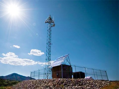 After spending $1.6 billion on two test projects in Ariz., the Dept. of Homeland Security in March postponed further work on a virtual fence, made up of stations like this Playas, N.M. test facility.
