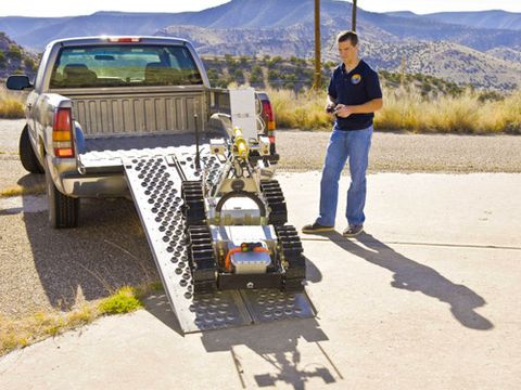Mining rescue robot