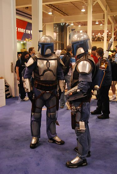 A pair of Django Fetts convene at the Jacob Javits Center for the 2010 New York Comic Con.