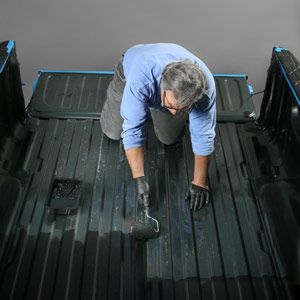 Brush in truck bed liner diy pickup truck maintenance ive always wondered why pickup trucks have painted beds hauling anything immediately scratches a brand new truck bed its slippery as heck when wet solutioingenieria Gallery