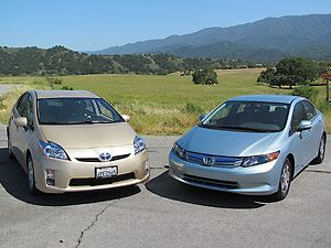 2012 honda civic hybrid 2011 toyota prius. Black Bedroom Furniture Sets. Home Design Ideas