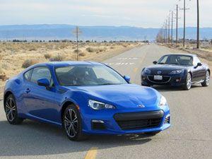 2013 Subaru BRZ vs 2012 Mazda Miata: Featherweight Sports Car Faceoff