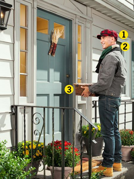 Plant, Flowerpot, Jeans, Jacket, House, Light fixture, Home, Interior design, Street fashion, Porch,