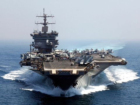 Water, Naval ship, Aircraft carrier, Warship, Watercraft, Navy, Boat, Ship, Supercarrier, Naval architecture,