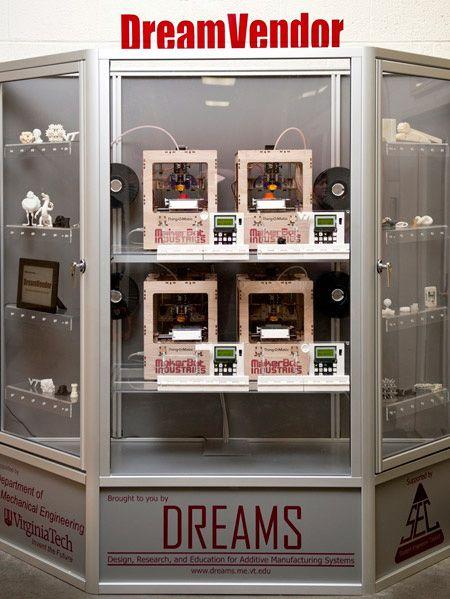 Dream Vendor: A 3D-Printing Vending Machine