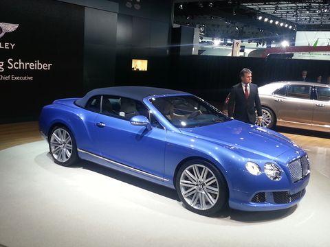 Detroit Auto Show 2013 Bentley Continental Gt Speed Convertible