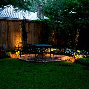 How to put in low voltage landscape lighting for In ground landscape lighting