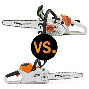 Chainsaw Grudge Match Gas Vs Electric