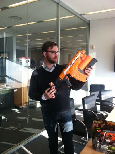 Exclusive: Destroy Your Friends and Coworkers With Nerf N-Strike Elite Demolisher 2-in-1 Blaster