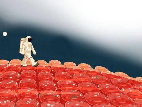 Carmine, Space, Toy, Theatre, Action figure, Fictional character, Astronaut,