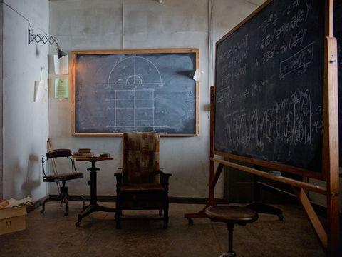 Wood, Room, Blackboard, Furniture, Wall, Hardwood, Flooring, Chair, Chalk, Handwriting,