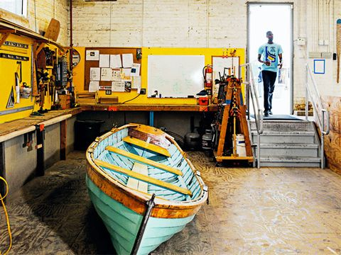 Yellow, Watercraft, Boats and boating--Equipment and supplies, Boat, Engineering, Machine, Skiff, Workshop, Workwear, Tradesman,