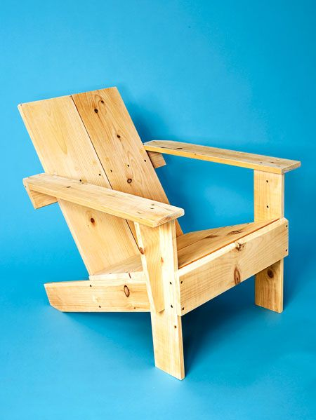 "<p>This design is loosely based on an <a href=""http://www.popularmechanics.com/home/how-to-plans/how-to/g1220/how-to-make-a-modern-adirondack-chair/"" data-tracking-id=""recirc-text-link"">Adirondack chair</a>, but is much simpler in construction. You can build this chair with just two 1-inch x 10-inch x 10-foot pieces of lumber and it should only take you a couple of hours.</p><p><a href=""http://www.popularmechanics.com/home/how-to-plans/how-to/g1608/how-to-make-a-two-board-backyard-lounger/"" data-tracking-id=""recirc-text-link"">How to Build a Backyard Lounger</a></p>"