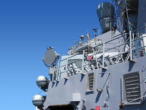 LRAD on the USS Donald Cook.