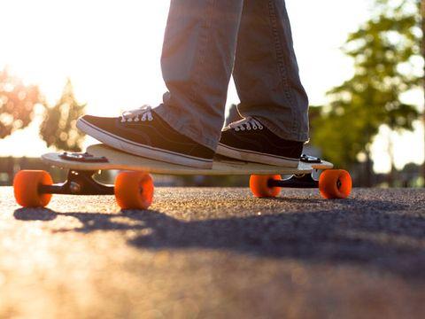 Skateboarding, Orange, Skateboarding Equipment, Black, Rolling, Boardsport, Street sports, Skateboard, Individual sports, Skateboarder,
