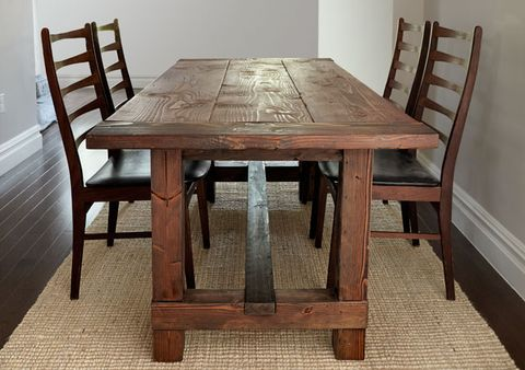 Pleasant Build This Rustic Farmhouse Table Home Interior And Landscaping Ologienasavecom