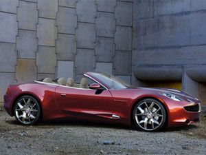 Detroit Forget About Your Wimpy Little Gas Sipping Hybrid Cars Styled Like George Jetson S Toaster The Fisker Karma Penned By Industry Design