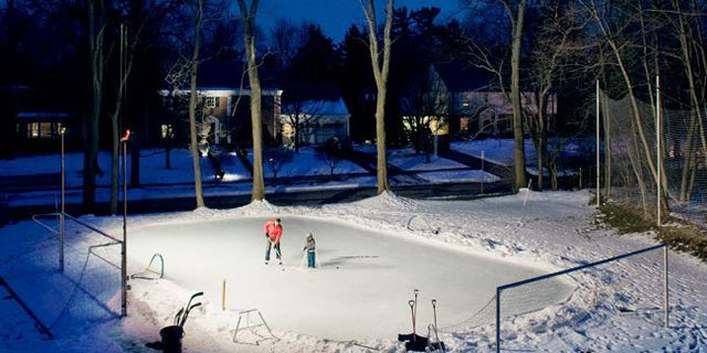 How to build a skating rink with your own hands