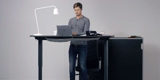 Ikea Standing Desk Adjusts With A Button Push If You Can